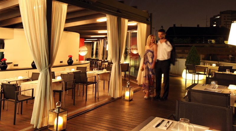 Terrace Restaurant by night
