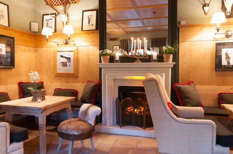 Hotel Bar with Fireplace