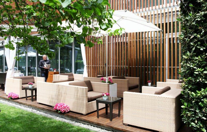 Enjoy a cocktail in the quiet garden