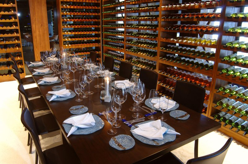 Located within the wine cellar - Duo Restaurant