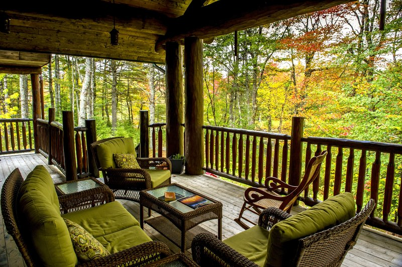 Back porch overlooking river