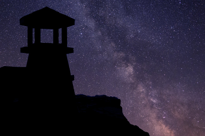 Salmon River Lighthouse & The Milky Way