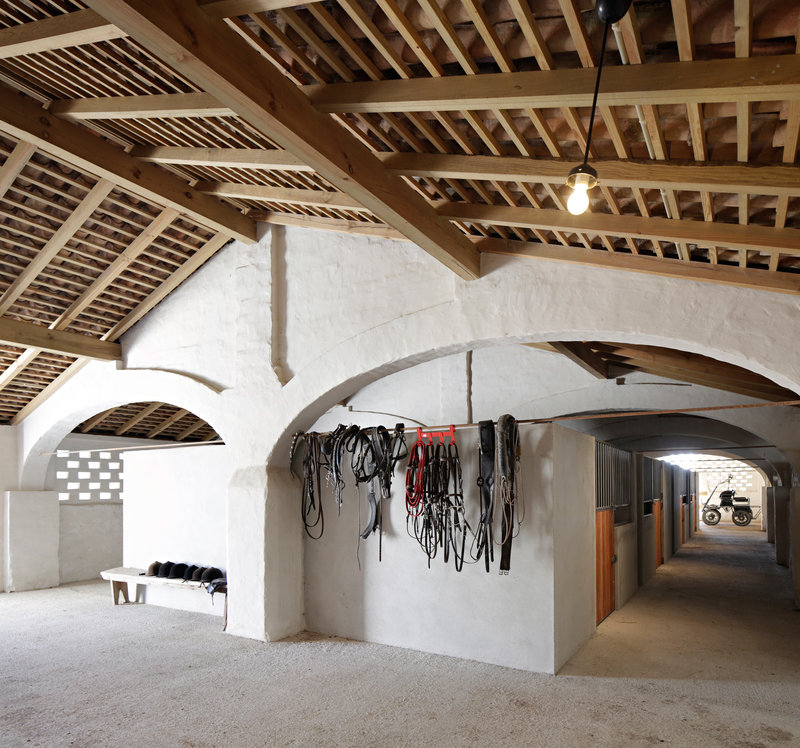 Horse stables preserve the original architecture
