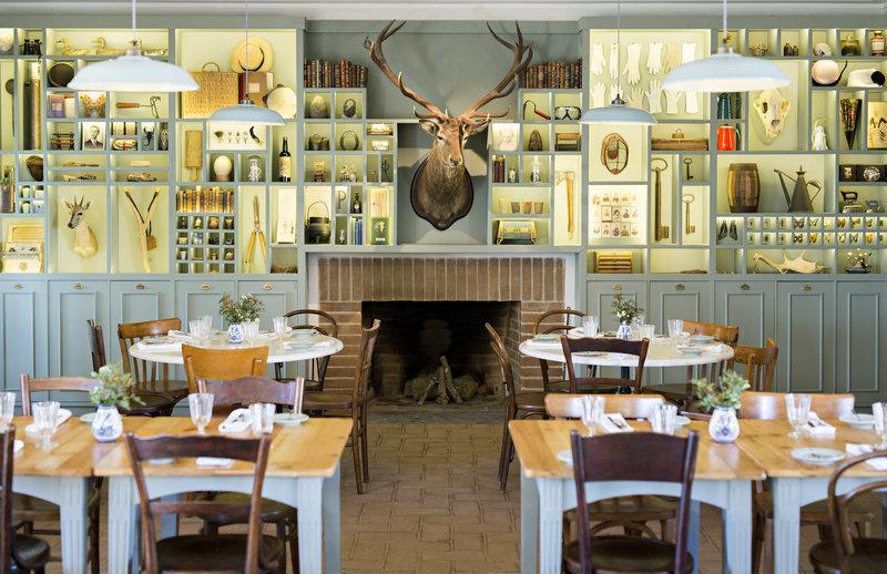Restaurant's cabinet of curiosities
