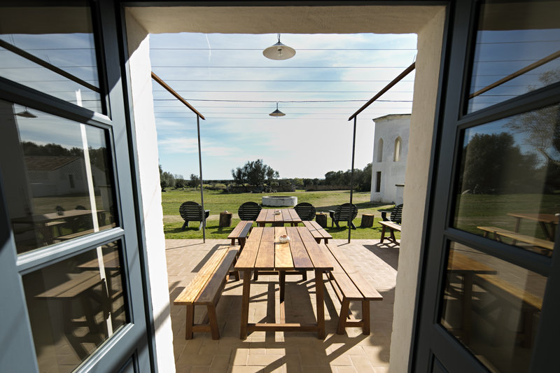 Restaurant's terrace with views to the meadow