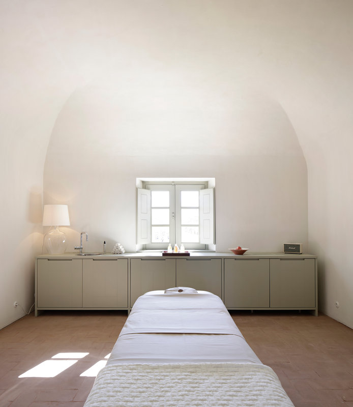 Spa's treatment room filled with natural light