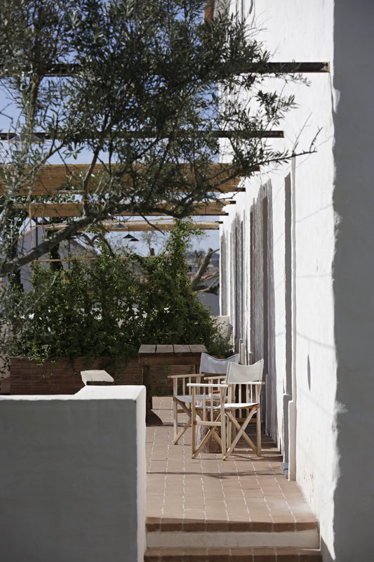 Cottage's private terraces to soak up the sun