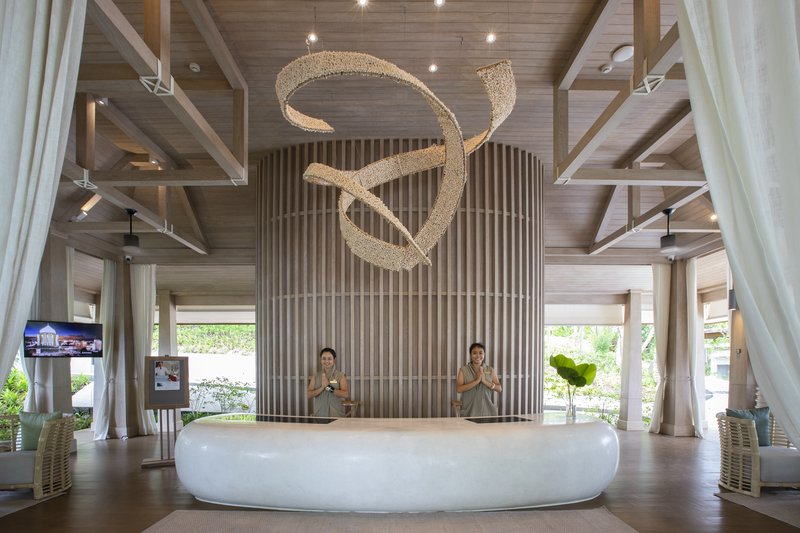 Cape Fahn Hotel Reception Area