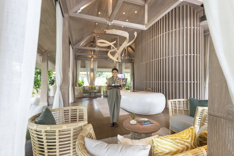 Cape Fahn Hotel Reception Area