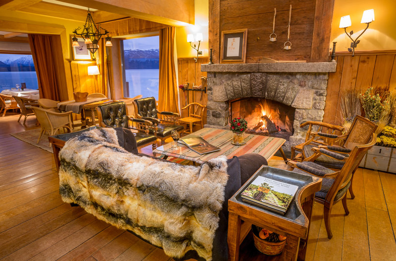 Relax and unwind in front of the fireplace