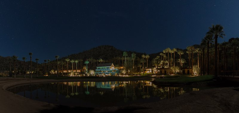 Castle Hot Springs At Night
