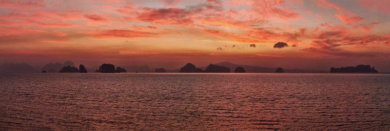 Panoramic view of Phang Nga Bay