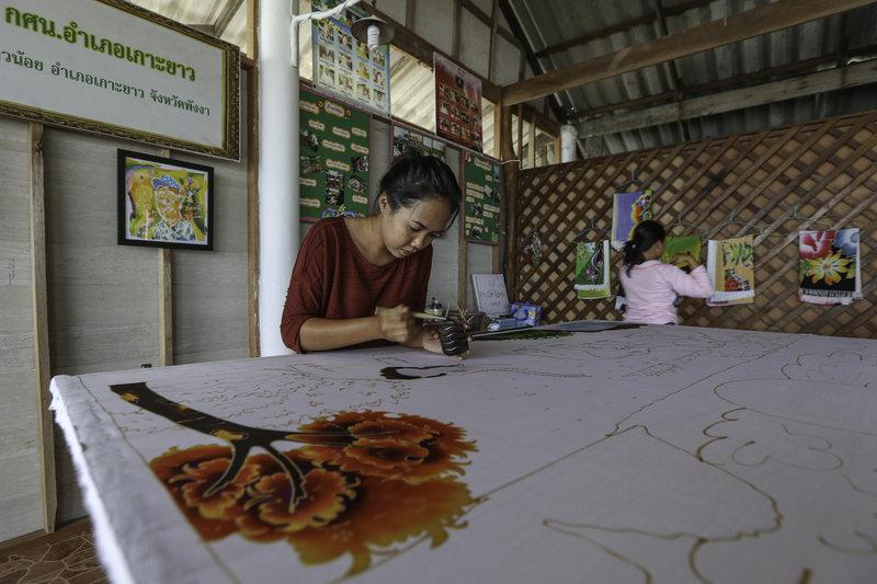 Cape Kudu Batik Painting In The Village