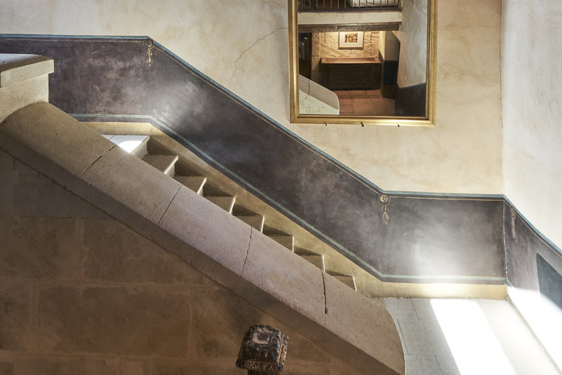 Stairs inside the main building
