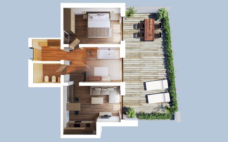 Garden Suite layout