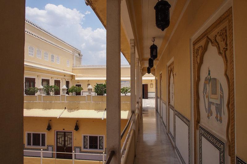 The Raj Palace Hallways