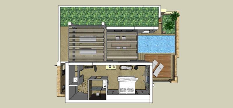 Residential Pool Villa TSTOREYFloor Plan