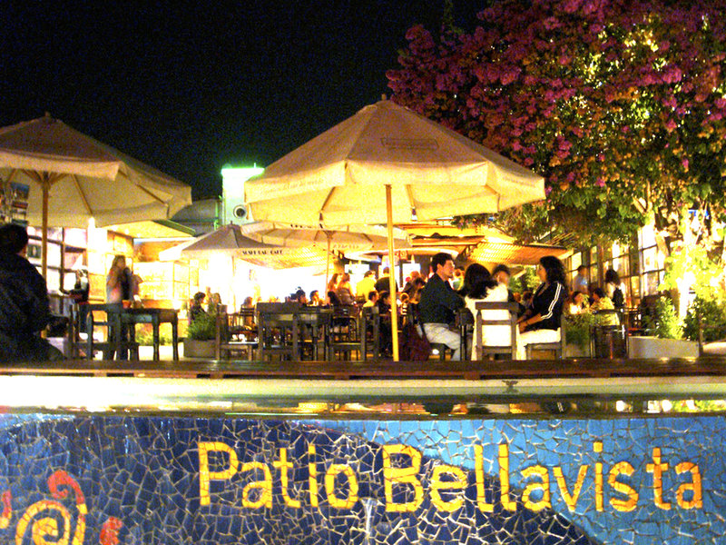 Patio Bellavista, with restaurants and bars