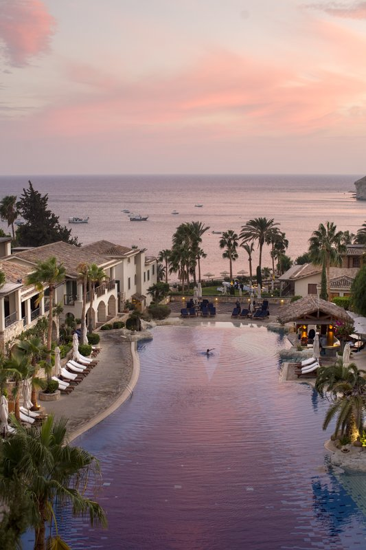 Sunset Over Resort West Pool