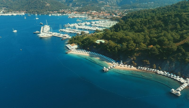 D Resort Gocek Beach Drone