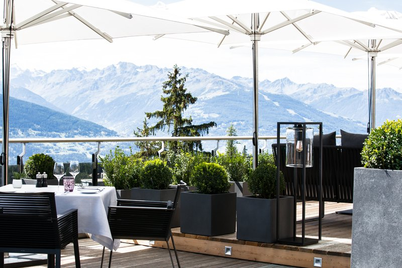 La Table terrace with panoramic views