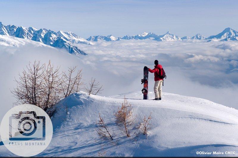 Snowboarding at Crans-Montana