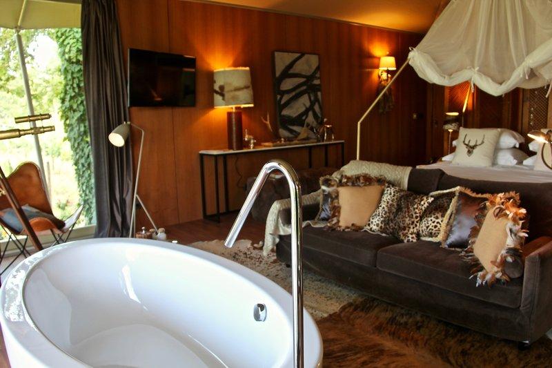In room soaking tub