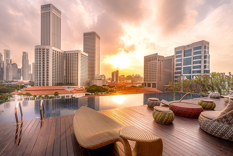 Rooftop Infinity Pool Sunset View
