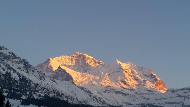 Jungfrau Sunset Winter