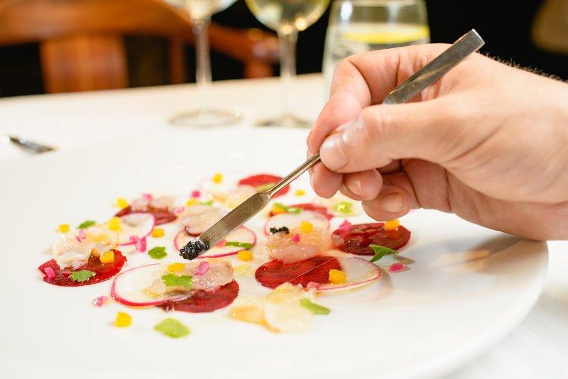 Signature dish - Lobster Carpaccio