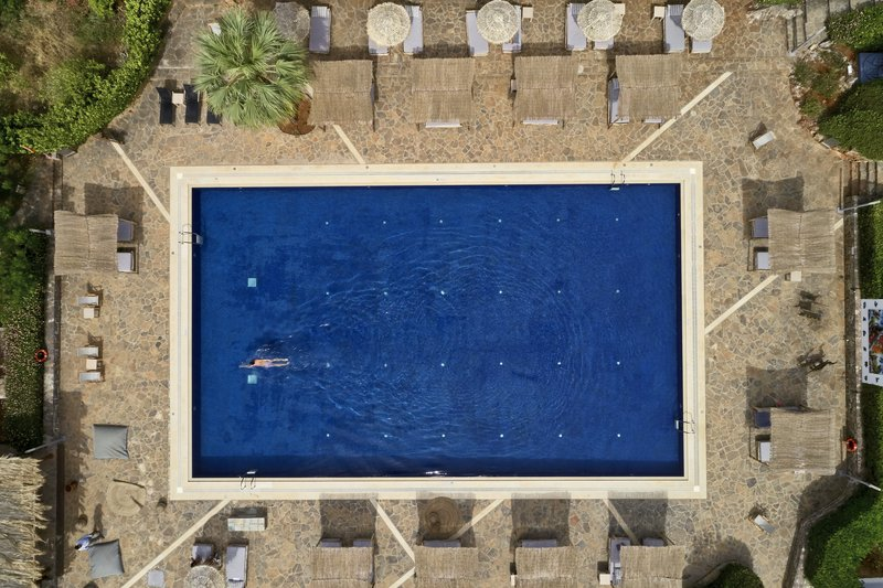 Aerial Minos Beach Main Pool