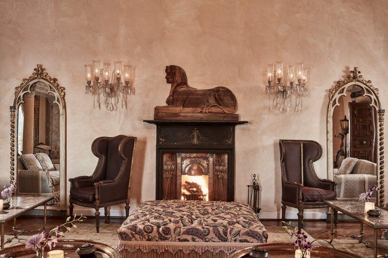 La Maison Bleue El Gouna Fireplace