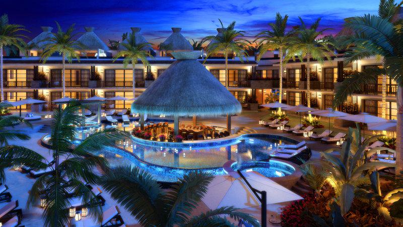 KASA Hotel Riviera Maya Pool At Night