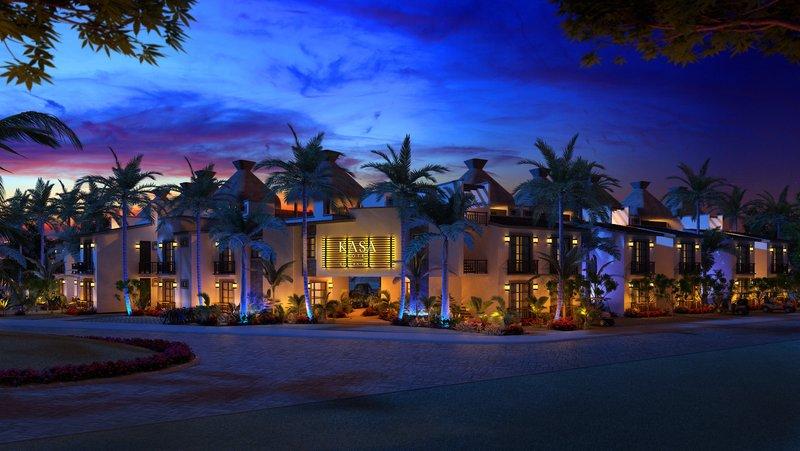 KASA Hotel Riviera Maya Front At Night
