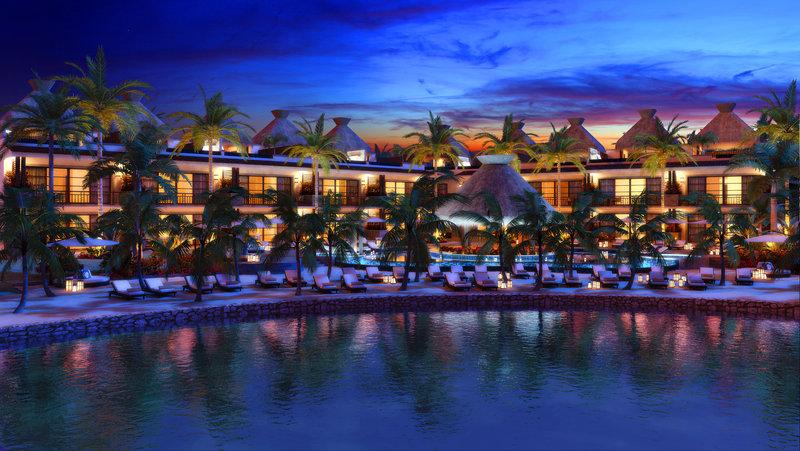 KASA Hotel Riviera Maya Pool Night