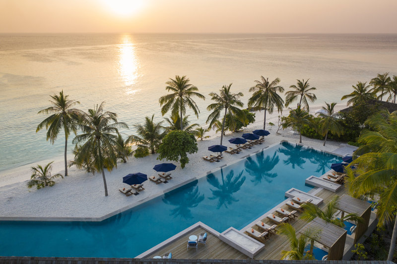 Faarufushi Aerial Sunset