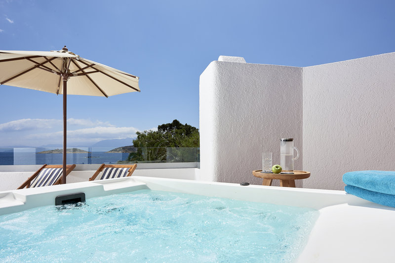 Club Jr Suite Outdoor Heated Jacuzzi Seafront View