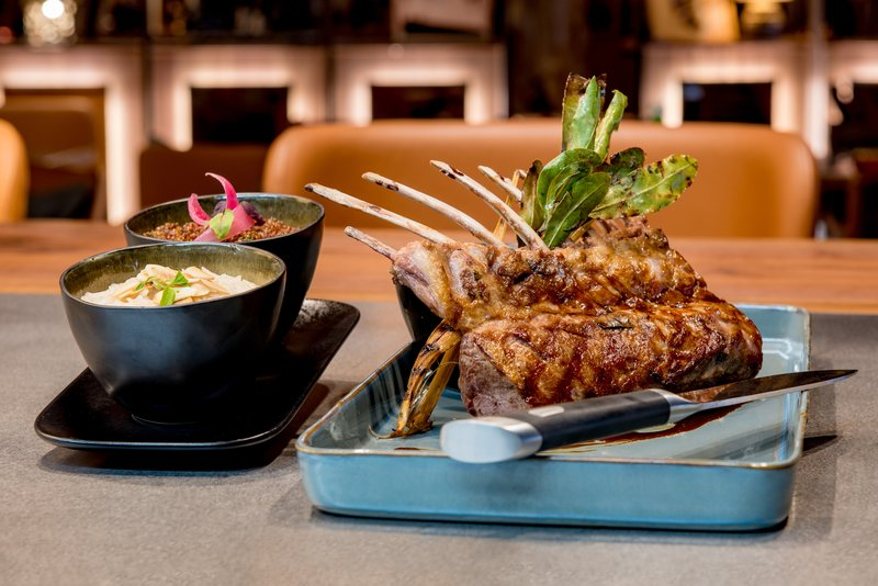 Rack Of Lamb Romandie Style Grilled For Two