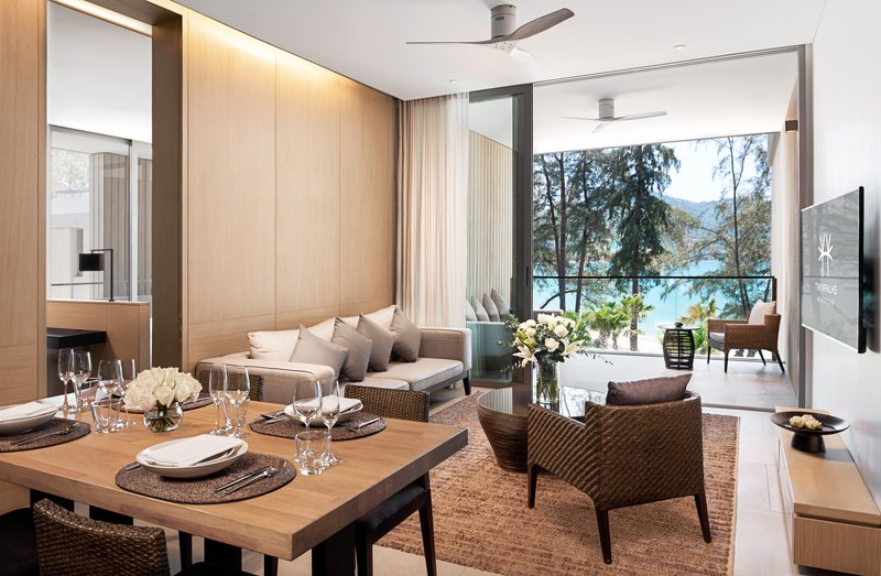 Azure Sea View Penthouse Private Pool Dining Room