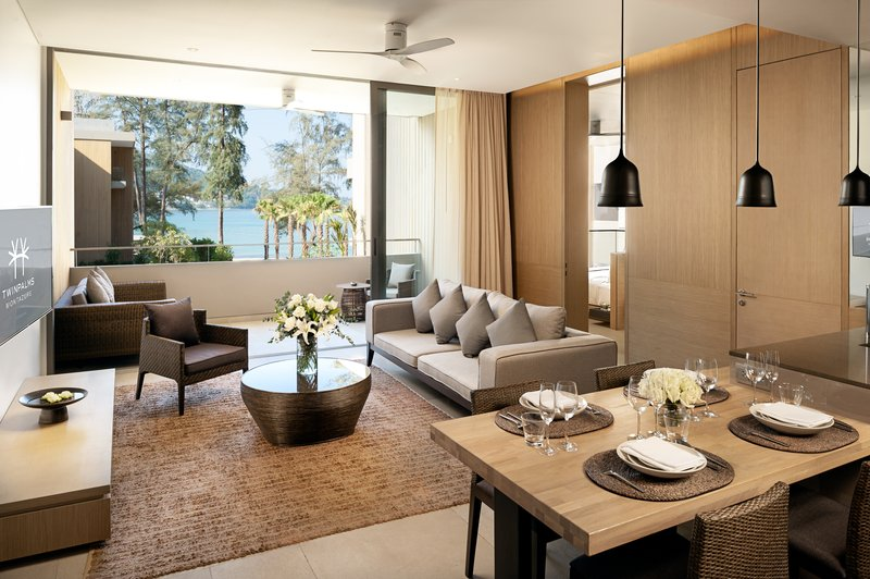 Azure Sea View Suite Living Room