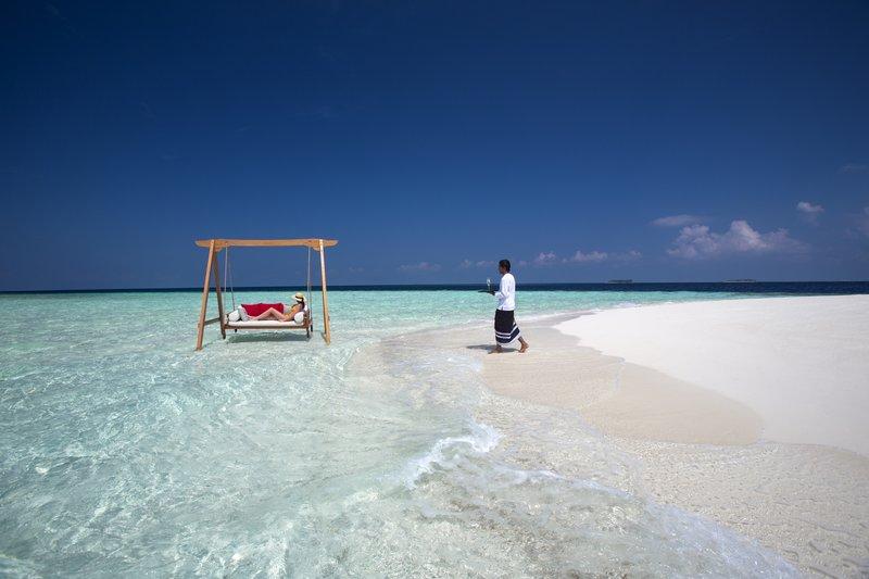 Baros Maldives Sandbank Swing Experience