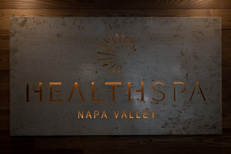 Health Spa Napa Valley Sign