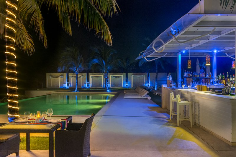 The Pool Bar And Main Pool At Night