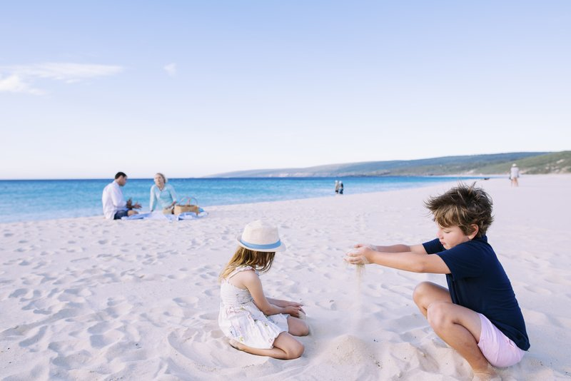 Kids playing on Smiths Beach