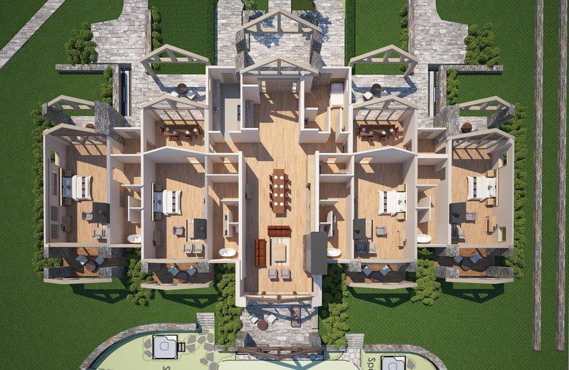Floor Plan Blanket Bay Villa