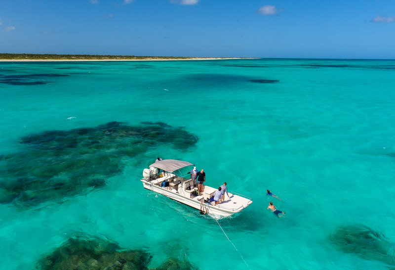 Exploring Barbuda's reef