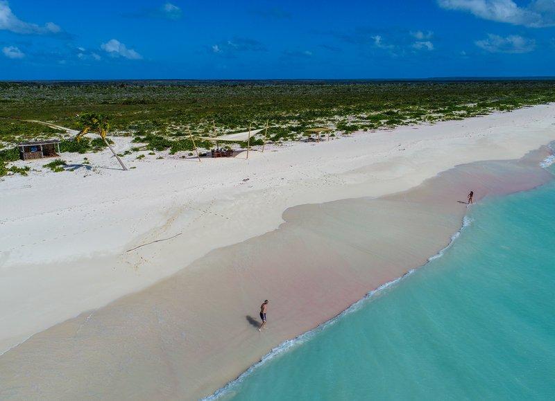 Barbuda's pink sand