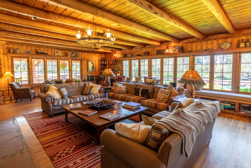 Relax in the Lodge Living Area