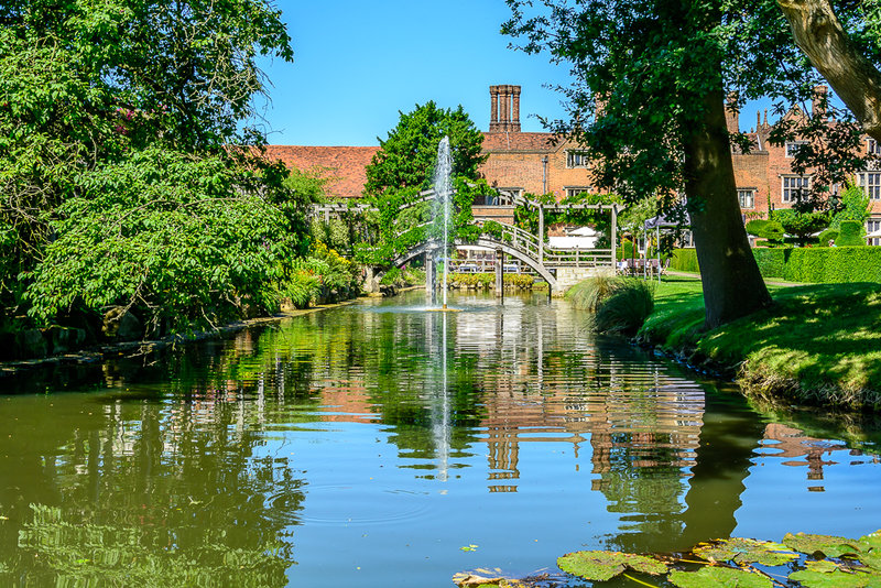 Great Fosters through the Moat