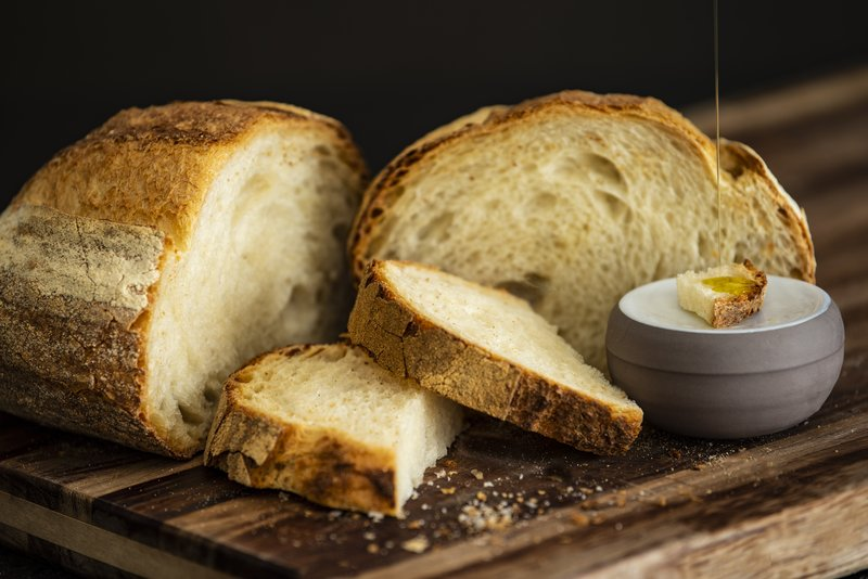 Bread with in house production of olive oil